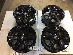 17 Toyota 4 Runner Tacoma Tundra Alloy Wheels Black Powder Coat 75153 Set Of 4