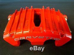 1997-2004 C5 Brake Caliper RED Powder Coat Front Rear Full Set NEW Corvette