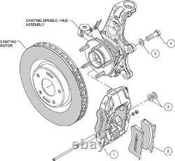 1997-2013 Chevy Corvette C5 C6 SLC56 Wilwood Brake Caliper Set + Pads