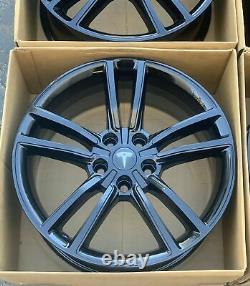19 Tesla Model S Black Factory Wheels Rims OEM SET OF 4 NEW POWDER COATED SET