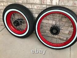2008-2017 Harley Sportster Nightster Powder Coated 40 Spoke Old School Wheel Set