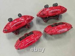 2010-2015 Camaro SS Calipers Brakes Brembo 1LE Red Powder Coated Nice Set 14K