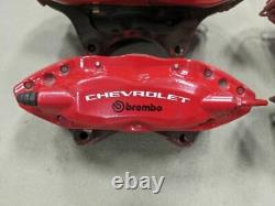 2010-2015 Camaro SS Calipers Brakes Brembo 1LE Red Powder Coated Set CHIPS
