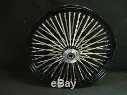 21x3 & 16x5.5 Dna Mammoth 52 Spoke Black Powder Coated Wheel Set For Harley