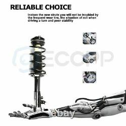 2x Front Complete Struts Mounts Spring 2x Rear Shocks For Honda Civic Acura CSX
