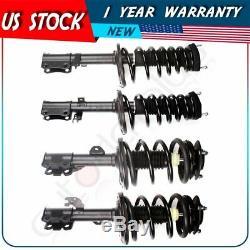 4 Pcs Complete Struts / Shocks & Springs Assembly Set For 2007-11 Toyota Avalon