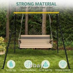 600 LBs Powder-Coated Steel Swing Set Frame Stand Weatherproof MAX Kids & Adults