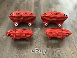 Akebono Sport Calipers 4POT 2POT Front Rear Set Red ONLY Q50 Q60 Maxima G37 G35