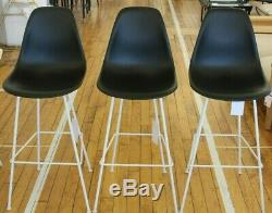 Authentic Herman Miller Eames Molded Plastic Counter Stool Set of 3 DWR