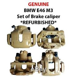 Bmw E46 M3 Set Of Brake Calipers And Carriers Refurbished Powder Coated
