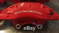 C7 CORVETTE. Z51 POWDER COATED BRAKE CALIPERS set of 4, 2014,15,16,17