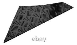 Defender 110 Set 2mm Chequer Plate Powder coated Black 5 Door upto 2007