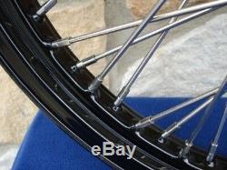Dna Powder Coated 60 Spoke Wheel Set For Harley Choppers