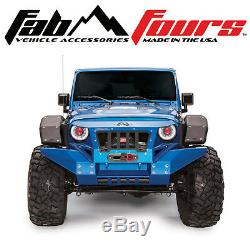 Fab Fours Front Full Width Fender Flare Set With Base Fender For 2007-2018 Jeep JK