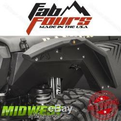 Fab Fours Set of 2 Front Inner Fenders Body Armor Fits 07-17 Jeep Wrangler JK