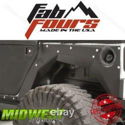 Fab Fours Set of 2 Rear Fender Base Body Armor Fits 2007-17 Jeep Wrangler JK 4DR