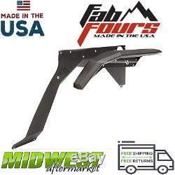 Fab Fours Set of 2 Rear Fender Flare & Base Fits 2007-2018 Jeep Wrangler JK 4DR