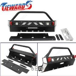 Fit for 2016-2019 Toyota 4Runner Front Winch Bumper Guard Set NEW
