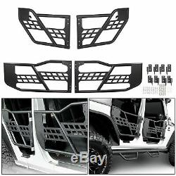 Fits 07-18 Jeep Wrangler JK Off Road Front+Rear Tubular 4 Door Set