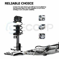 For 07-12 Nissan Sentra 2.0L (2) Front Complete Struts & (2) Rear Shock Absorber