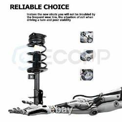 For 07-12 Nissan Sentra 4D 2.0L (2) Front Complete Struts Shocks Spring Assembly