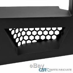 For 16-20 Toyota Tacoma Pickup Black Steel Rear Bumper Face Bar Guard Step Set
