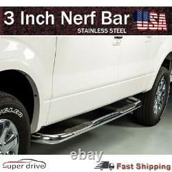 For 2003-2008 Nissan Murano 3 Chrome Pair Set Nerf Bar Side Step Running Board