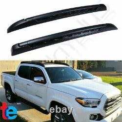 For 2005-2019 Toyota Tacoma Double Cab Top Roof Rack Cross Side Rails Bars Set