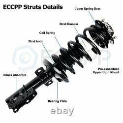 For 2006-11 Chevrolet HHR 2.2L 2.4L 4Pcs Complete Strut Spring + Shocks Absorber