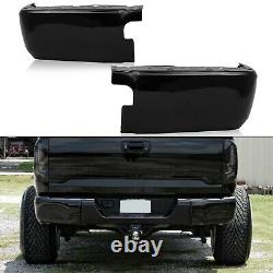 For 2014-2021 Toyota Tundra Black Bumper End Caps Rear Bumper Extension Set