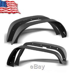 For Jeep Wrangler 07-18 JK Full Set Flat Style Solid Steel Fender Flares