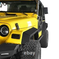 Full Angular Front & Rear Fender Flares Set of 6 For 1997-2006 Jeep Wrangler TJ