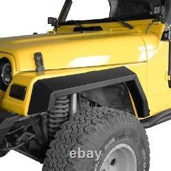 Full Width Front & Rear Fender Flares Set of 6 For 1997-2006 Jeep Wrangler TJ