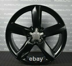 Genuine 19 Audi A5 Alloy Wheels Full Set Refinished in VIPER GLOSS BLACK 5x112