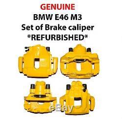 Genuine Bmw E46 M3 Set Of Brake Calipers And Carriers Refurbished Powder Coated