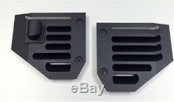Hummer H2 & SUT Billet Aluminum Black Powder Coated Side Air Vent Set Pair