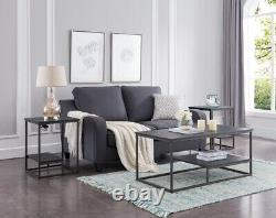 Kings Brand Furniture 3-Piece Occasional Table Set, Coffee & 2 End Tables