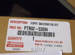 Lexus IS250 IS350 (2009-2013) (RWD) OEM Genuine F-SPORT SWAY BAR SET PTR02-53094