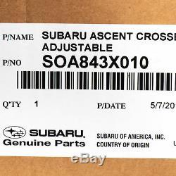 OEM 19-2020 Subaru Ascent Aero Crossbar Roof Adjustable Rack Set NEW SOA843X010