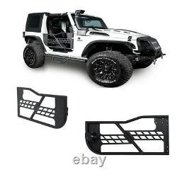 Off Road Rock Crawler Right + Left Tubular 2 Door Set for 07-18 Jeep Wrangler JK