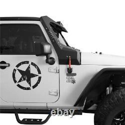 Offroad Windshield Frame Cover Visor Cowl Armor Set fit Jeep Wrangler JK 07-18
