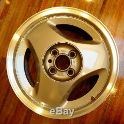 Rare Saab Classic 900/9000 16 Carlsson Aero Alloy Wheels set x4 Diamond cut lip