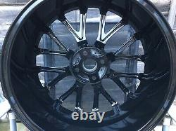 SET OF 4x 18 MINI COOPER S R50 R56 R112 JCW CHALLENGE ALLOYS WHEELS BLACK MINT