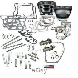S&S Cycle 900-0354 106in. Big Bore Hot Set Up Kit Black Powder-Coat