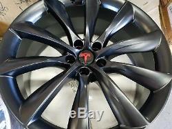 Set Of (4) 22 Tesla Model X Wheel Powder Coat (exchange)
