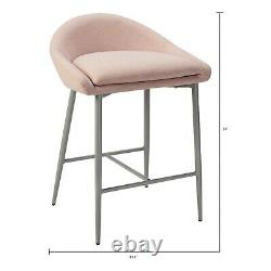 Set of 4 Bar Stools 26 Height Modern Counter Dining Pub Chair Kitchen Patio