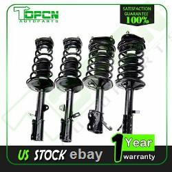 Set of 4 For 1993-2002 TOYOTA Corolla Complete Shock Struts with Spring Mount