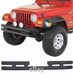 Smittybilt Front/Rear Gloss Tubular Bumper Set For 1987-2006 Jeep Wrangler YJ TJ