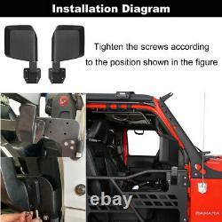 Steel Tubular Doors Guard+Mirror Set Fit 18-21 Jeep Wrangler JL Gladiator JT