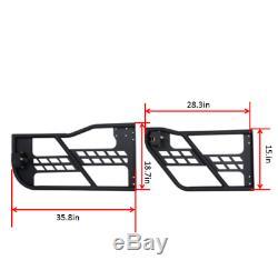 Textured Full Set Half Door & Side Step Bars For 2007-2018 Jeep Wrangler JK 4dr
